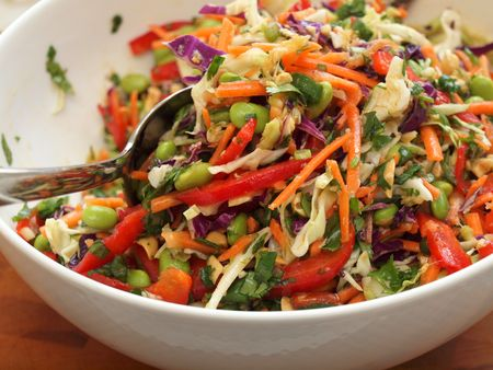 Thai slaw with peanut & ginger sauce